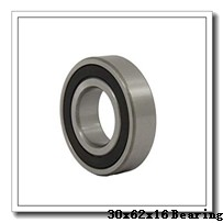 30 mm x 62 mm x 16 mm  NTN 6206 deep groove ball bearings