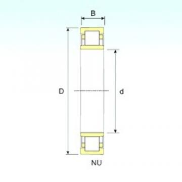 25 mm x 52 mm x 15 mm  ISB NU 205 cylindrical roller bearings