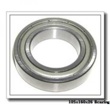 105 mm x 160 mm x 26 mm  NACHI 7021CDB angular contact ball bearings