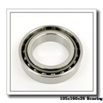 105 mm x 160 mm x 26 mm  KOYO 3NCHAD021CA angular contact ball bearings