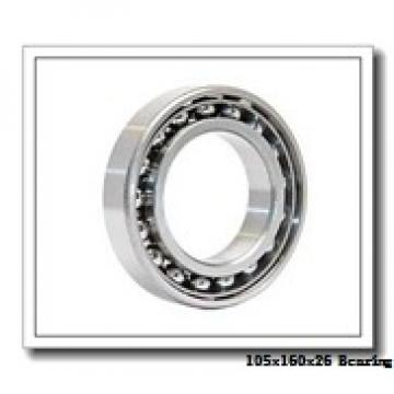 105 mm x 160 mm x 26 mm  NACHI 6021NR deep groove ball bearings