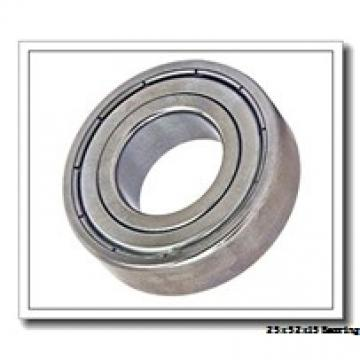 25 mm x 52 mm x 15 mm  NACHI 6205-2NKE9 deep groove ball bearings