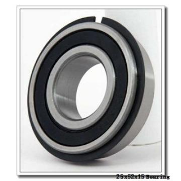 25 mm x 52 mm x 15 mm  NKE 6205-NR deep groove ball bearings