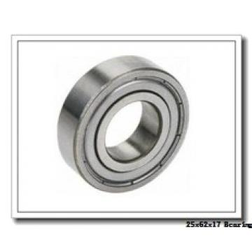 25 mm x 62 mm x 17 mm  NACHI 7305BDF angular contact ball bearings