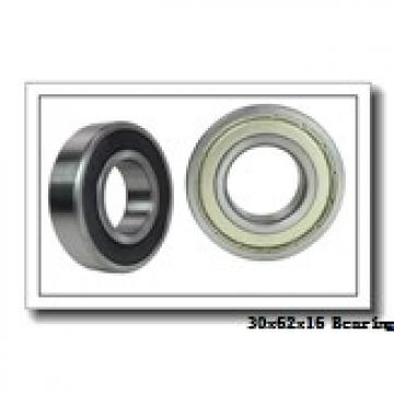 30 mm x 62 mm x 16 mm  NKE 6206-RS2 deep groove ball bearings