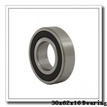 30 mm x 62 mm x 16 mm  ISB 6206-ZZ deep groove ball bearings