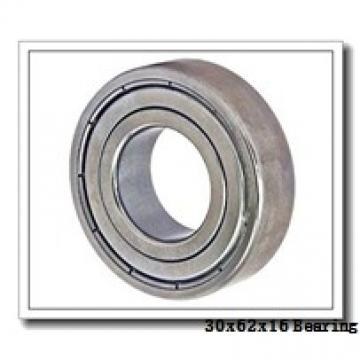 30 mm x 62 mm x 16 mm  NACHI 6206-2NKE9 deep groove ball bearings