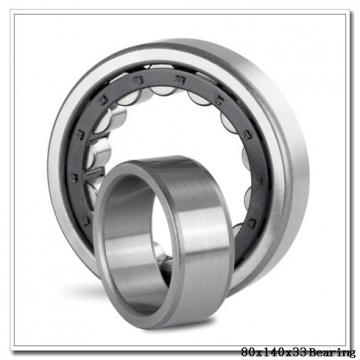 80 mm x 140 mm x 33 mm  Loyal NH2216 E cylindrical roller bearings