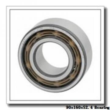 90 mm x 160 mm x 52.4 mm  NACHI 5218N angular contact ball bearings