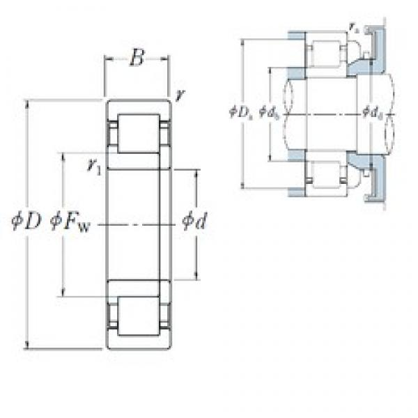 80 mm x 140 mm x 33 mm  NSK NUP2216 ET cylindrical roller bearings #3 image